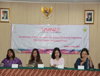 """Seminar : """"Membongkar Budaya Perkosaan dan Strategi Mendorong Pengesahan RUU Penghapusan Kekerasan Seksual"""""""