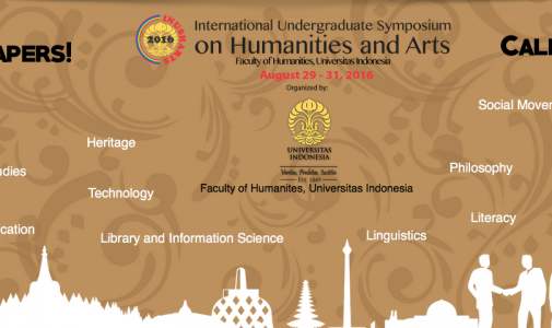 Call for Papers! International Undergraduate Symposium on Humanities and Arts 2016
