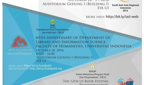 64th ANNIVERSARY ON SCHOOL LIBRARIES IN ASEAN COUNTRIES: A JOINT WORKSHOP WITH IASL