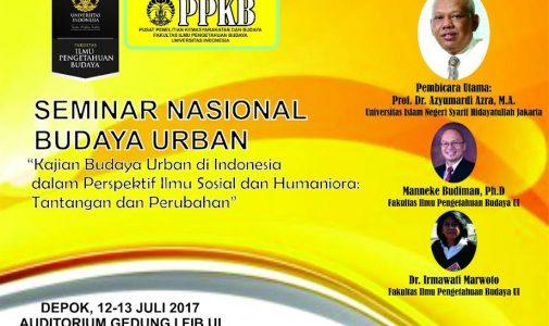 "Seminar Budaya Urban: ""Kajian Budaya Urban di Indonesia dalam Perspektif Sosial dan Humaniora: Tantangan dan Perubahan"""