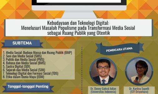 Seminar Nasional Humaniora Dan Ilmu Sosial