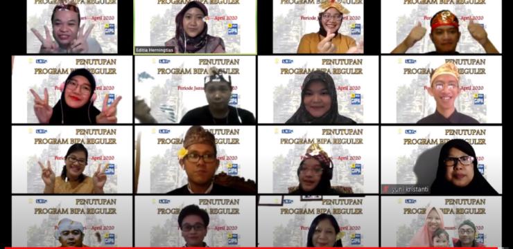 """Acara Penutupan Program Bipa Reguler Periode Januari—April 2020 Dengan Tema """"Sagilik-Saguluk Salunglung Sabyantaka"""""""