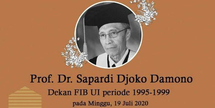 Berita Duka: Prof. Dr. Sapardi Djoko Damono Berpulang
