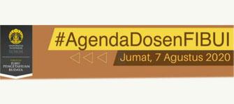 Agenda Dosen FIB UI, Jumat, 7 Agustus 2020